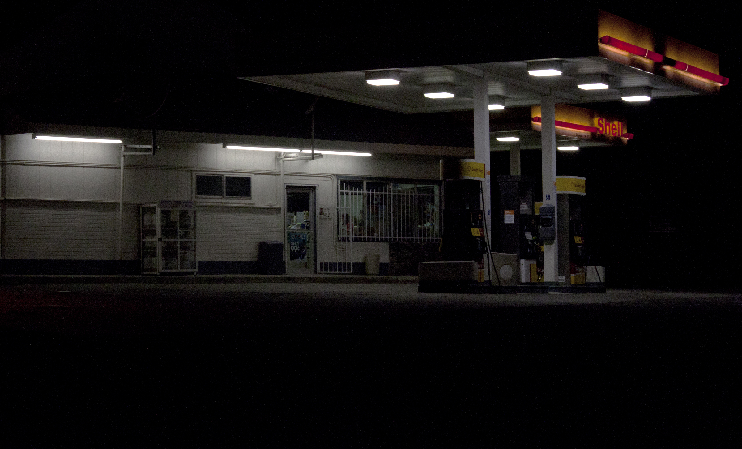 Day 52 Country Gas Station At Night Carissa Snedeker Photography